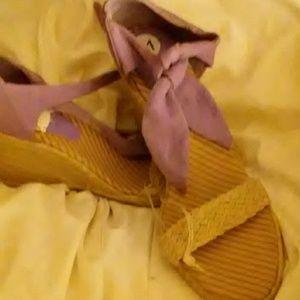 Shoes - Tommy Hilfiger Lavender & Natural Espadrilles Shoe